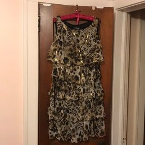 Leopard Print with Gold Fleck Size 14 Fit